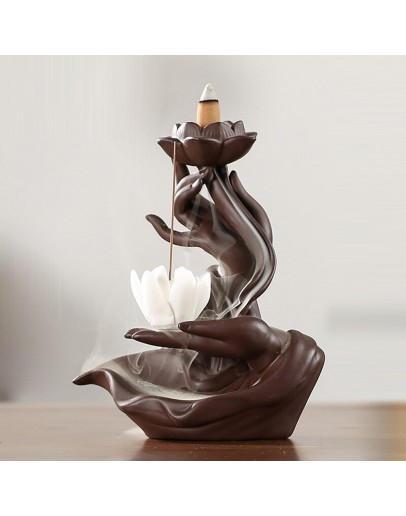 Suport backflow Mână și floare de Lotus