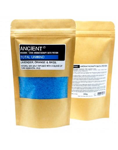 Sare de Baie Aromatherapy - Total Unwind, cu aromă de Lavandă, Portocale și Busuioc