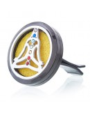 Odorizant pentru Mașină Pewter Yoga Chakra, 30mm