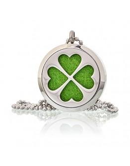 Colier Aromatherapy - Four Leaf Clover, 30mm