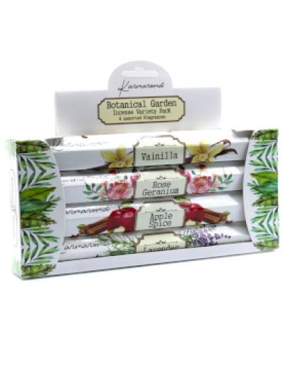 SET - Bețișoare Parfumate Botanical Garden - Vanilie, Măr, Lavandă, Trandafir