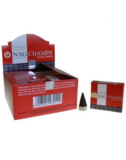 Conuri Parfumate Golden - Nag Champa - Frangipani
