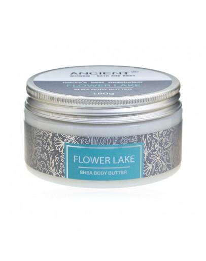 Unt de Corp cu Shea - Flower Lake cu Aromă de Trandafiri Bulgari, Violete, Vanilie și Mușchi Albi, 180g