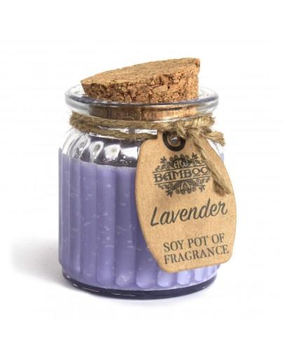 Lumânare Parfumată din Soia cu Aromă de Lavandă