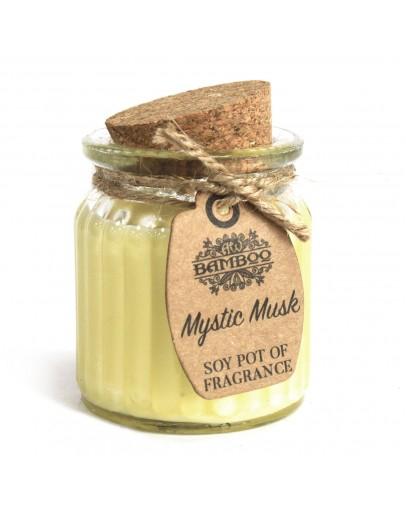 Lumânare Parfumată din Soia cu Aromă de Mystic Musc