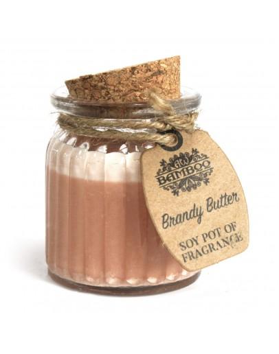 Lumânare Parfumată din Soia cu Aromă de Brandy Butter