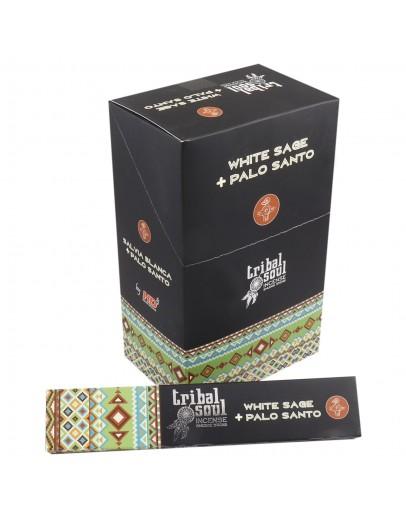 Bețișoare Parfumate Tribal - Salvie Albă & Palo Santo
